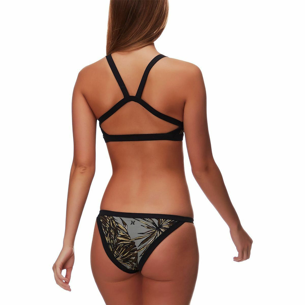 Hurley Women's Quick Dry Koko Tri Surf Bottom - Dark Stucco