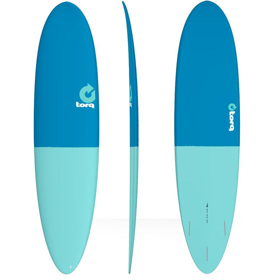 Torq Fun 7'6 Fun Blue + Turquoise tail  50/50.