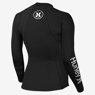 2mm NeoTop Hurley Women's wetsuit top - Fusion 202 JKT IN - Black