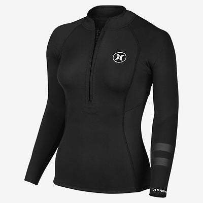 NeoTop Hurley Women's wetsuit top - Fusion 202 JKT IN - Black