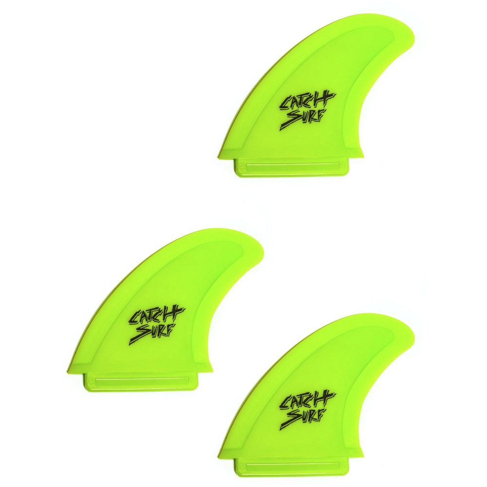 Catch Surf Fins - Hi-Perf Safety Edge: Tri Fin Set Lime - Surf Ontario