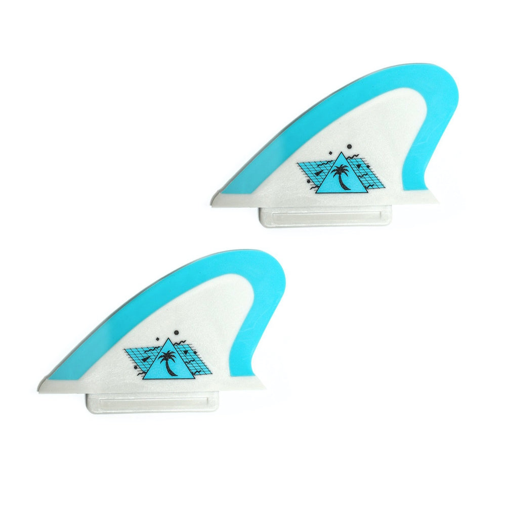 Catch Surf Fins - Hi-Perf Safety Edge: Keel Twin Set Grey/ Cool Blue - Surf Ontario