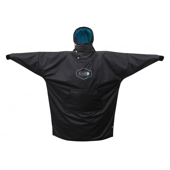 Changing towel - ALL IN PONCHO - PSTORM - STORM PONCHO: BLACK/TURQUOISE - Surf Ontario