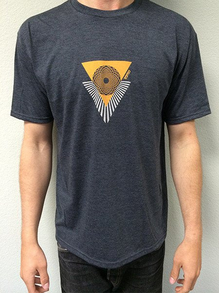 T-Shirts - Tomo Triangle logo - Grey - Surf Ontario