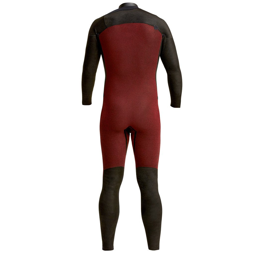 4/3 Men's XCEL COMP FULLSUIT (CHEST ZIP) - JET BLACK