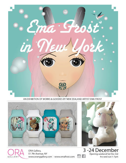 Ema Frost in New York - Exhibition 3-24 Dec 2016
