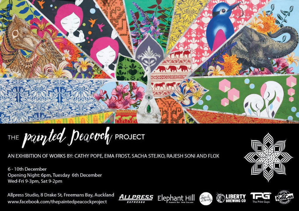 The Painted Peacock Project - Exhibition // Auckland NZ 6-10 Dec