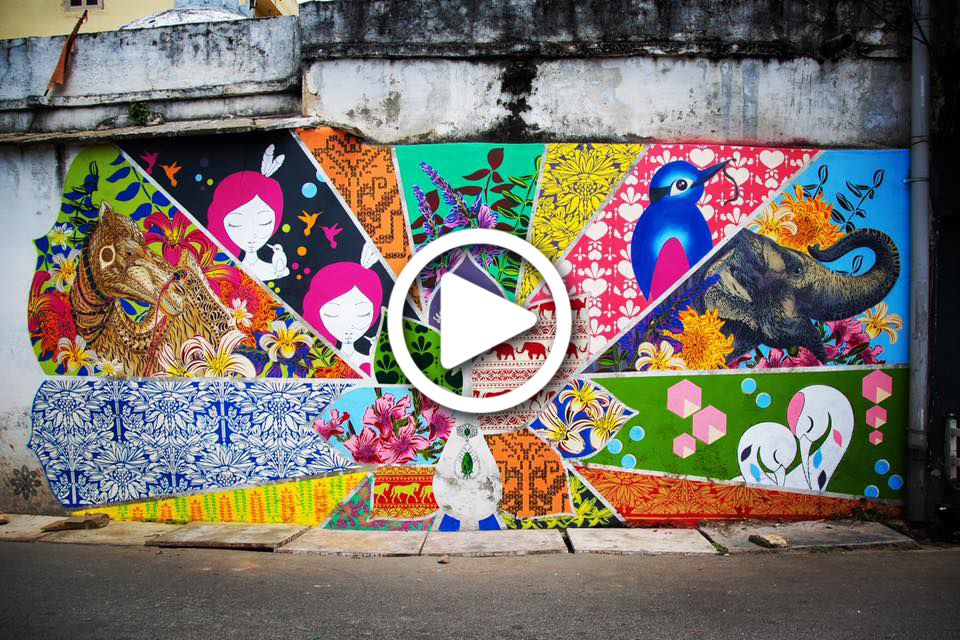 Our Timelapse in India while Painting: Sept 2016