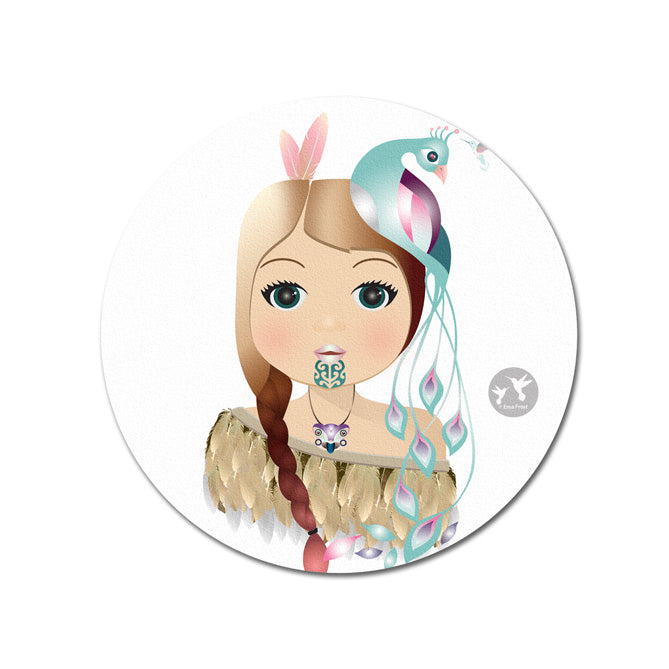 Ceramic Coaster - Little Warrior Girl