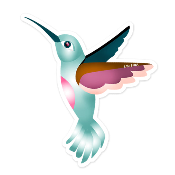 Ema Frost Hummingbirds Sticker