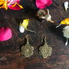 Flower Petal Gold Earrings