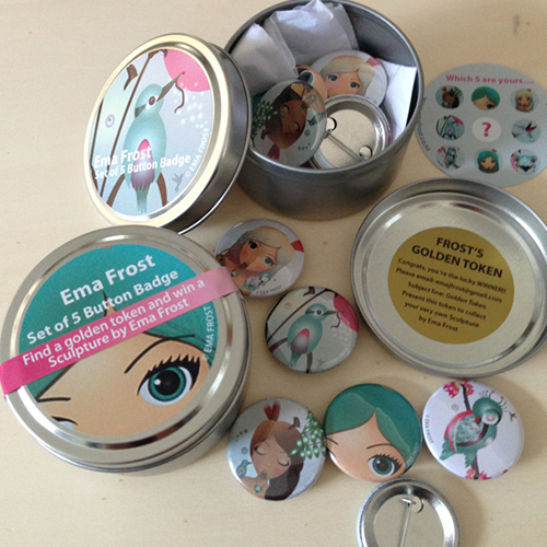 Ema Frost Button Badge Set of 5