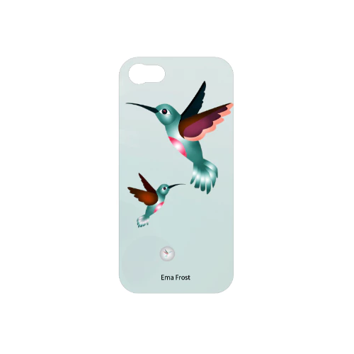 Ema Frost Cellphone Cover (iPhone 5/5s, iPhone 6/6s) - Hummingbird