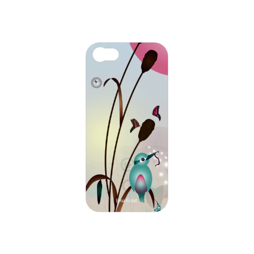 *FREE* Ema Frost Cellphone Cover (iPhone 4/4s, Samsung Galaxy S4) - Kingfisher