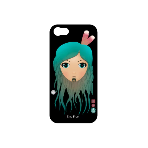 Ema Frost Cellphone Cover (iPhone 5/5s, iPhone 6/6s) - Moana Hine (Black)