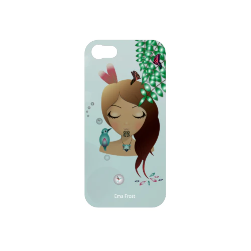 Ema Frost Cellphone Cover (iPhone 5/5s, iPhone 6/6s) - Sleeping Kotare Hine