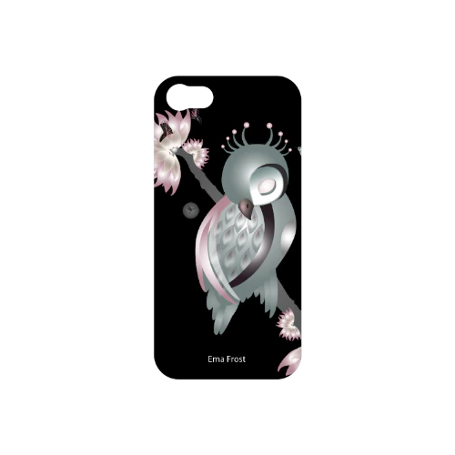 Ema Frost Cellphone Cover (iPhone 5/5s, iPhone 6/6s - Sleeping Ruru Soft (Black)