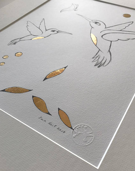 Sketch Gold Series - Hummingbirds