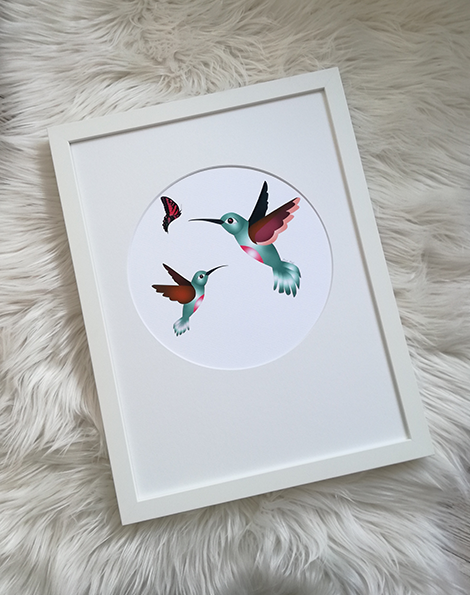 Hummingbirds - Framed