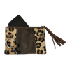 Leather Purse // Leopard Brown