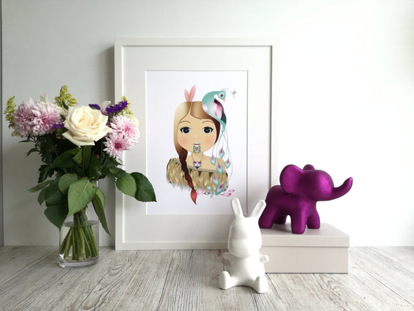 Little Warrior Girl - Framed