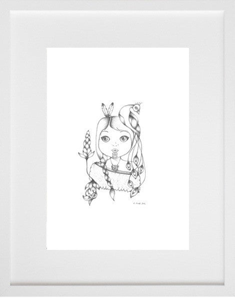 Little Warrior Girl (Graphite)