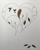 Sketch Gold Series - Sleeping Herons (Heart)