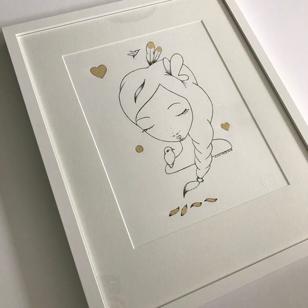 Sketch Gold Series - Layla - Framed