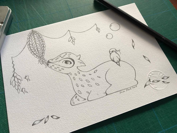 Frost Sketch Project #8 - The Enchanted Woodland