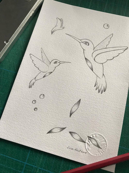 Frost Sketch Project #2 - Hummingbirds