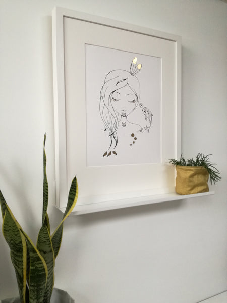Sketch Gold Series - Sleeping Moana Hine - Framed