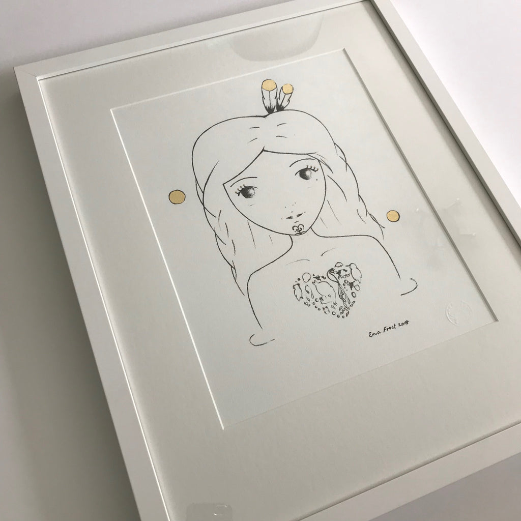 Sketch Gold Series - Valentina - Framed
