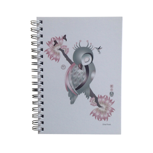 Ema Frost Spiral Notebook - Sleeping Ruru (Soft)