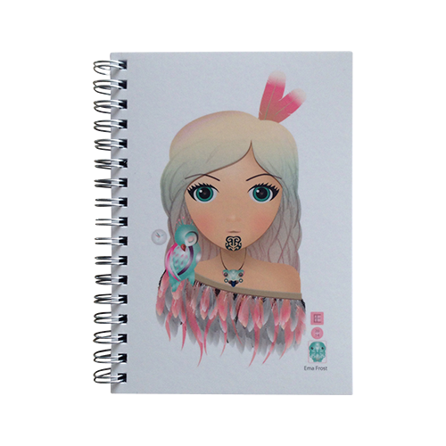 Ema Frost Spiral Notebook - Hine (Pink Cloak)