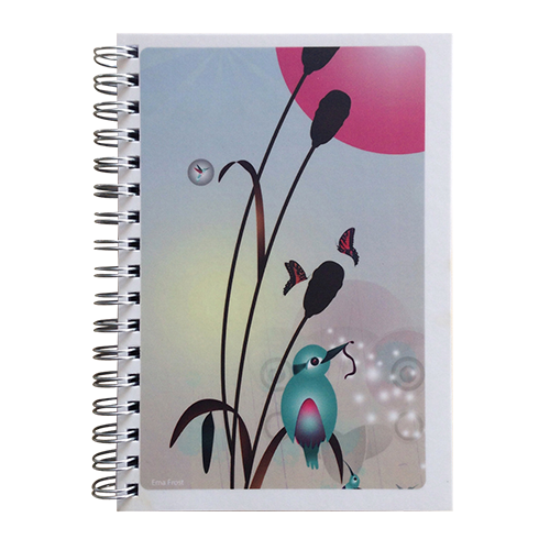 Ema Frost Spiral Notebook - Kingfisher/Kotare