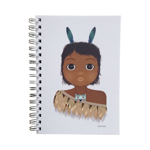 Ema Frost Spiral Notebook - Little Warrior Boy
