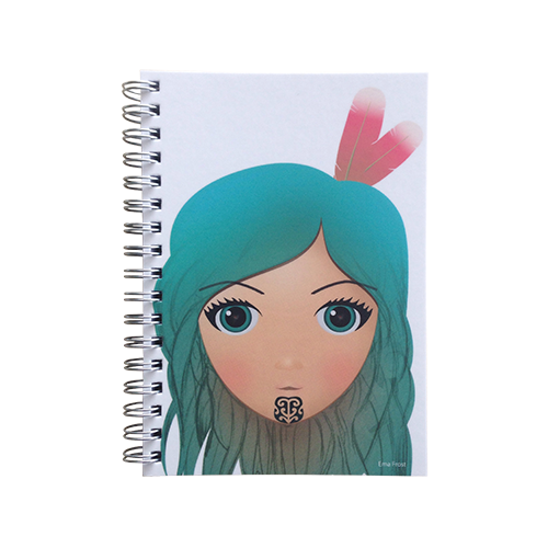 Ema Frost Spiral Notebook - Moana Hine (Blue)