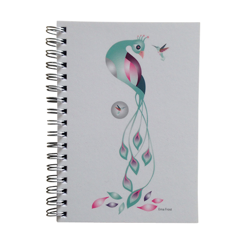 Ema Frost Spiral Notebook - Enchanted Peacock