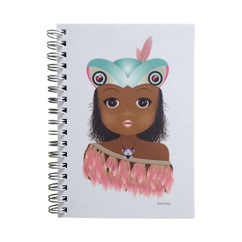 Ema Frost Spiral Notebook - Tikina Girl