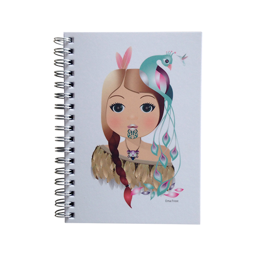 Ema Frost Spiral Notebook - Little Warrior Girl