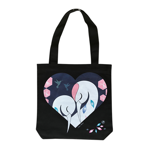 Frosty Tote Bag - Sleeping Herons