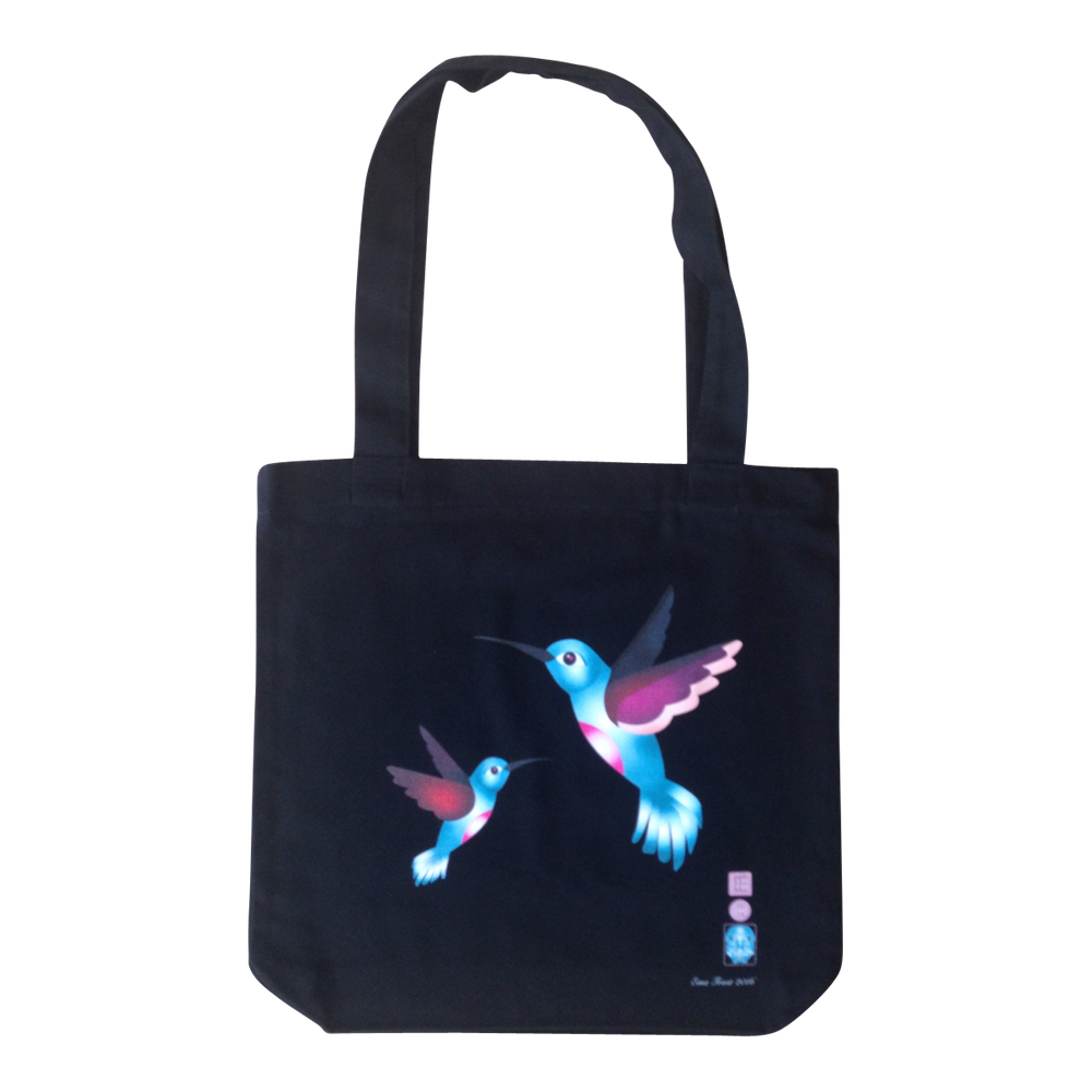Frosty Tote Bag - Hummingbird