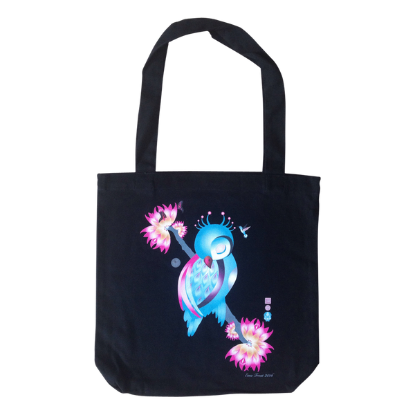 Frosty Tote Bag - Sleeping Ruru
