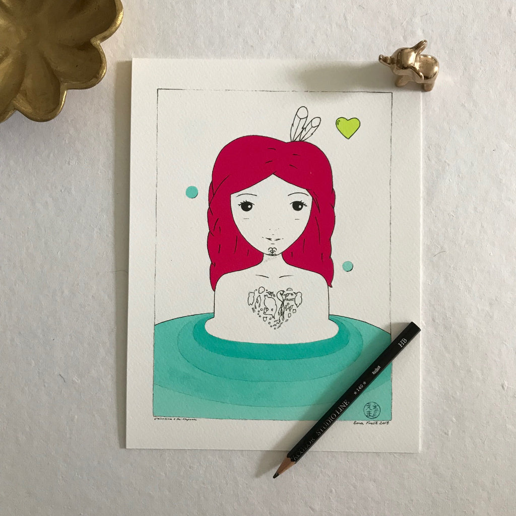 Valentina & The Stepwell, Day - Love Series (Mini Print)