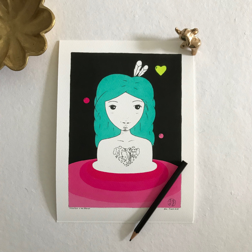 Valentina & The Stepwell, Night - Love Series (Mini Print)
