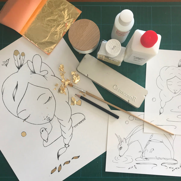 Sketch and Gilding Workshop - 5th August 6:30pm -8/8:30pm (Winter Sessions)