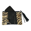 Leather Purse // Zebra Black