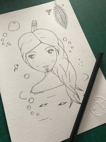 Frost Sketch Project #9 - Ariana & The Kowhai Lantern