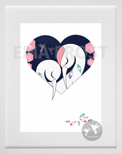 Heart Series - Sleeping Heron