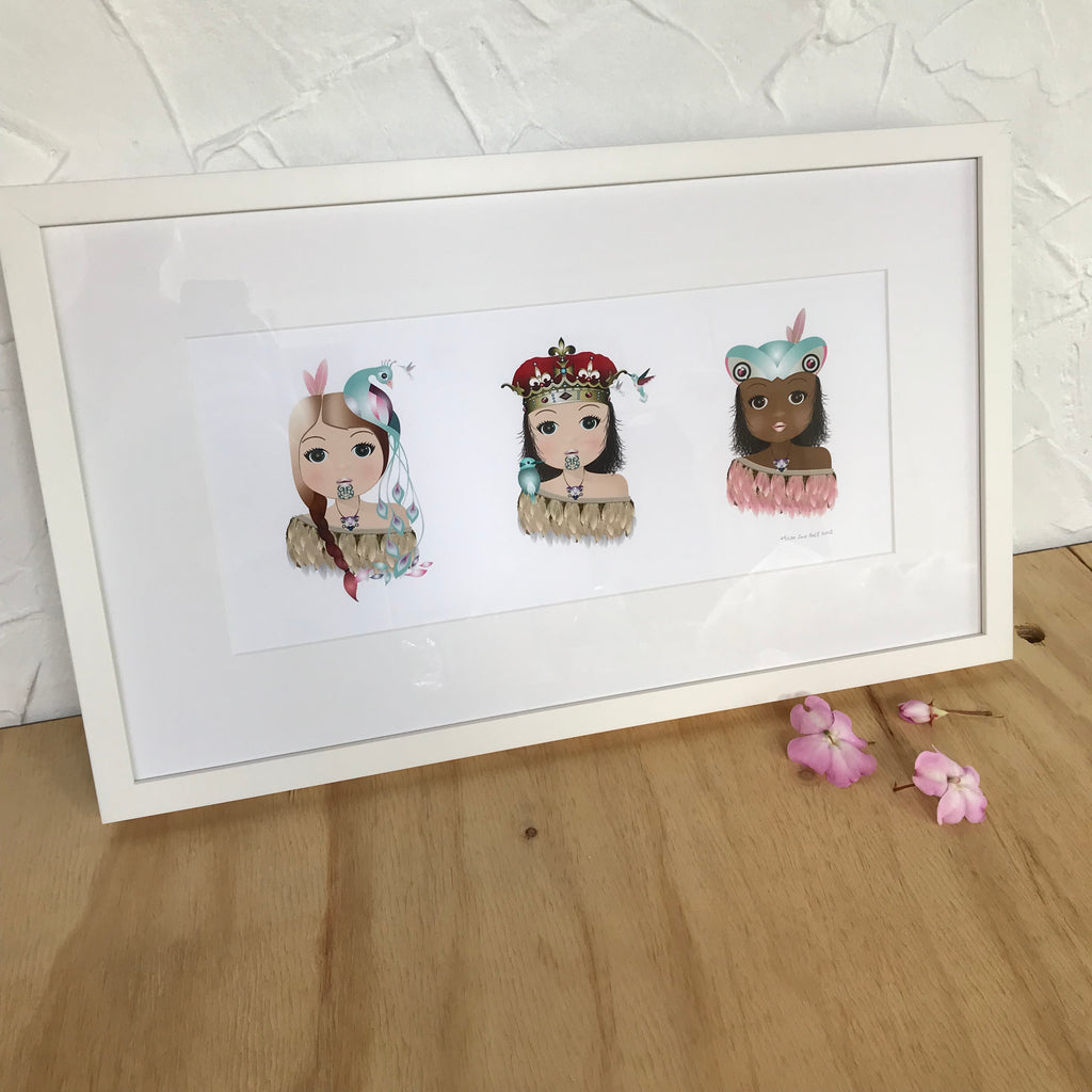 3 x Warrior Kids - Framed